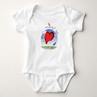 kansas head heart, tony fernandes baby bodysuit