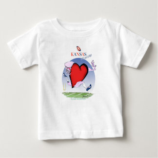kansas head heart, tony fernandes baby T-Shirt