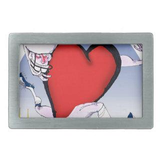 kansas head heart, tony fernandes rectangular belt buckle