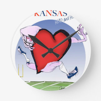 kansas head heart, tony fernandes round clock