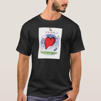 kansas head heart, tony fernandes T-Shirt