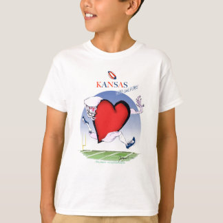 kansas head heart, tony fernandes T-Shirt