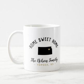 Kansas Home Sweet Home Family Monogram Mug