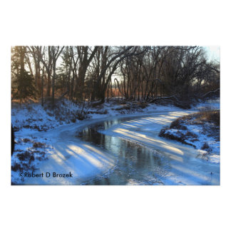 Kansas Icy and Snowy Creek Photo Enlargement