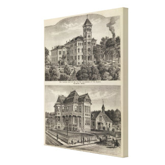 Kansas Institute for Education of the Blind Gallery Wrap Canvas