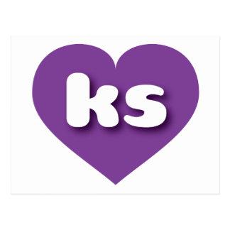 Kansas ks purple heart postcard