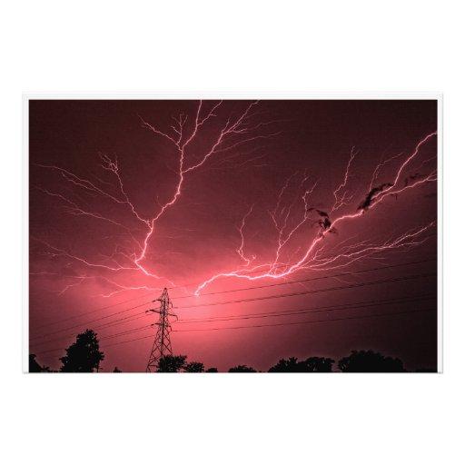Kansas Lightning across the Sky Photo Enlargement Photo Art