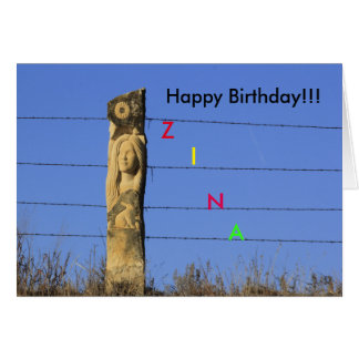 Kansas Limestone  Carving Birthday Greeting Card