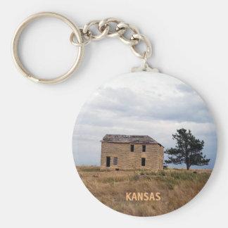 Kansas Limestone Farm House Keychain