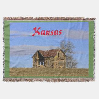 Kansas Limestone House Throw Blanket