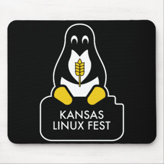 Kansas Linux Fest Mouse Pad Black