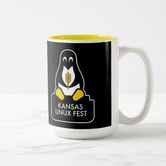 Kansas Linux Fest Mug Black