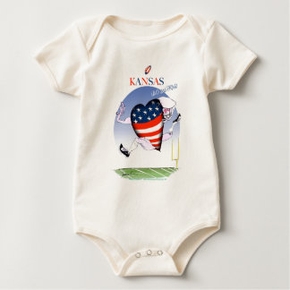 kansas loud and proud, tony fernandes baby bodysuit