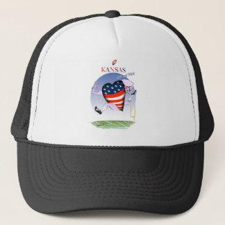 kansas loud and proud, tony fernandes trucker hat