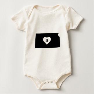 Kansas Love Baby Bodysuit