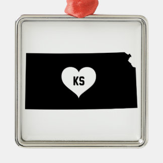 Kansas Love Metal Ornament