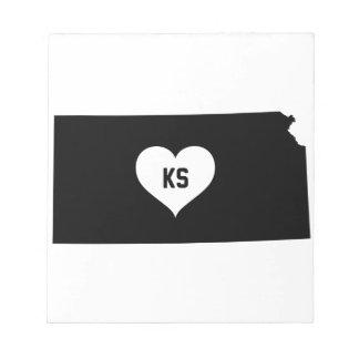 Kansas Love Notepad