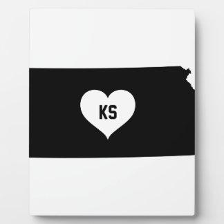 Kansas Love Plaque