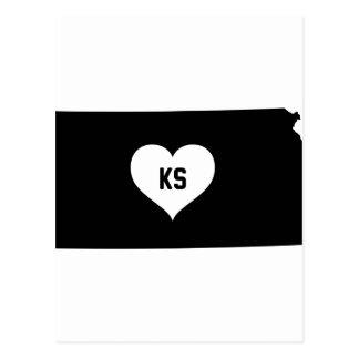 Kansas Love Postcard