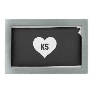 Kansas Love Rectangular Belt Buckles