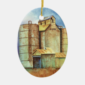 Kansas - Milepost Gano Ceramic Oval Ornament