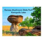 Kansas Mushroom State Park Kanopolis  POST CARD