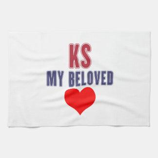 Kansas my beloved hand towel