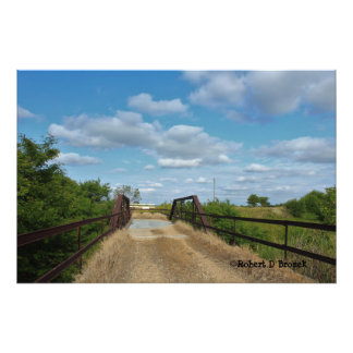 Kansas Old Country Bridge Photo Enlargement