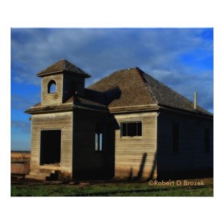 Kansas Old Country Wooden School Photograph