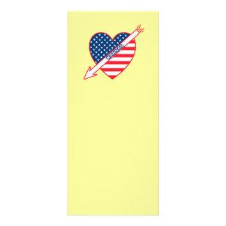 Kansas Patriot Flag Heart Full Color Rack Card