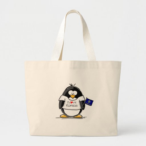 Kansas Penguin Tote Bag