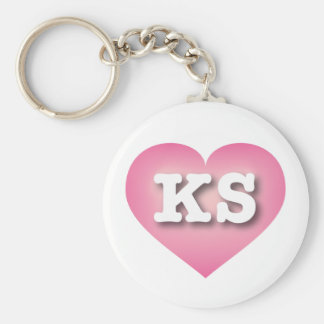 Kansas Pink Fade Heart - Big Love Keychain