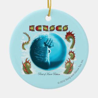 KANSAS - Point of Know Return (1977) Round Ceramic Ornament