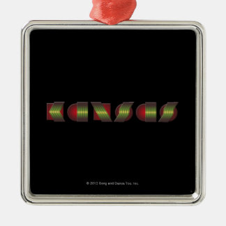 KANSAS (Point of Know Return Colors) Silver-Colored Square Ornament