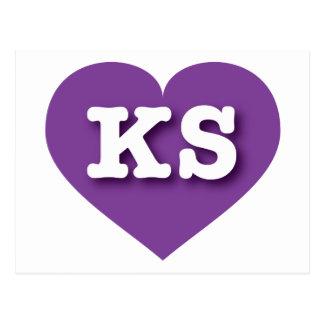 Kansas Purple Heart - Big Love Postcard