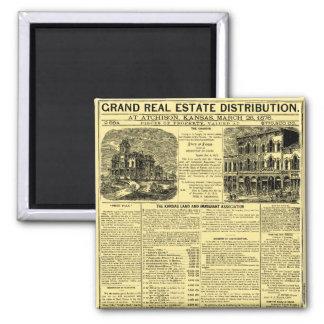 Kansas Real Estate Newspaper Advertisement Magnet