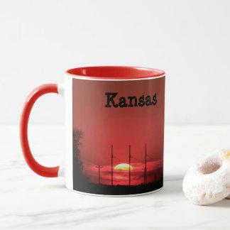 Kansas RED SUNSET Coffee Mug