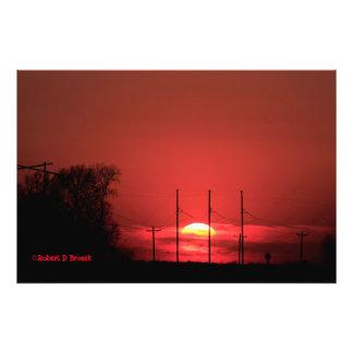 Kansas Red Sunset Photo Print
