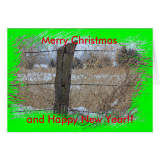 Kansas Snowy Fence line Christmas Card