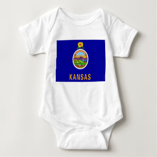 Kansas State Flag 2.png Baby Bodysuit