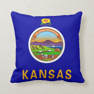 Kansas State Flag American MoJo Pillow