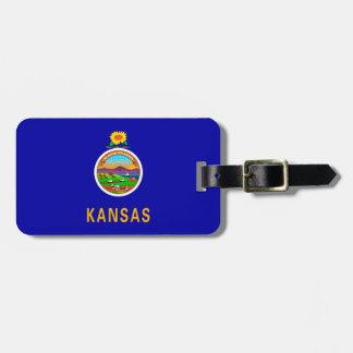 Kansas State Flag Design Luggage Tag