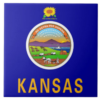 Kansas State Flag Tile