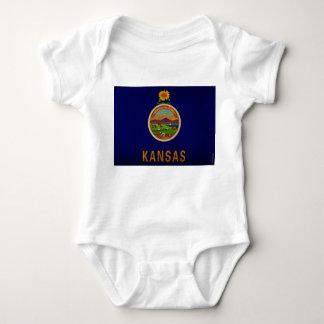 Kansas State Flag VINTAGE.png Baby Bodysuit