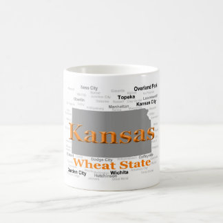 Kansas State Pride Map Coffee Mug