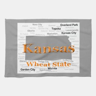 Kansas State Pride Map Kitchen Towel