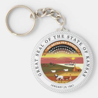 Kansas State Seal Keychain