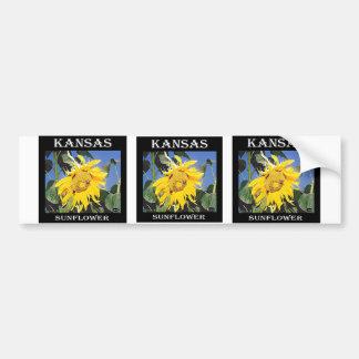 Kansas Sunflower Bumper Sticker