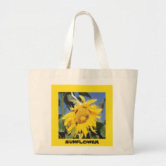Kansas Sunflower Large Tote Bag