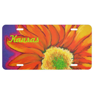 Kansas Sunflower License Plate